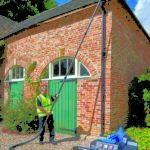 a gutter clean at a rural property in Cumbria